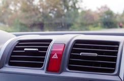 Непредвиденная кнопка в автомобиле Стоковые Фото