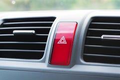 Непредвиденная кнопка в автомобиле Стоковое Изображение RF
