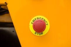 Непредвиденная кнопка стоп Стоковые Фотографии RF