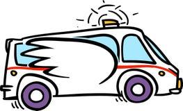 Непредвиденная машина скорой помощи бесплатная иллюстрация