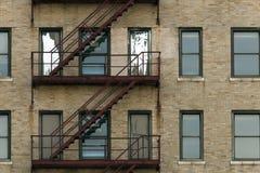 Непредвиденная пожарная лестница Стоковая Фотография RF