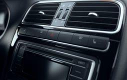 Непредвиденный автомобиль кнопки стоп стоковые изображения rf