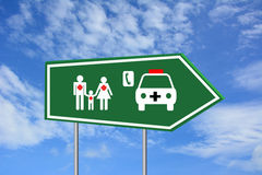 Непредвиденный знак здравоохранения Стоковая Фотография RF