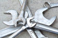 Непредвиденный набор, инструмент автомобиля, гаечный ключ Стоковая Фотография RF