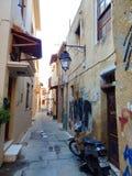 Неприкрашенный старый городок Rethymno стоковая фотография rf