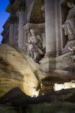 Нептун в фонтане Trevi стоковые изображения rf
