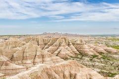 неплодородные почвы Дакота южная Стоковое Фото