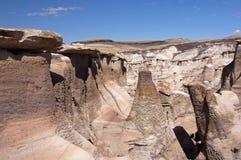 Неплодородные почвы Bisti, Неш-Мексико, США стоковое изображение rf