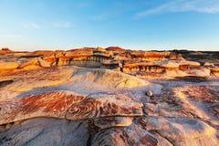 Неплодородные почвы Bisti стоковое фото