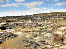 Неплодородные почвы Drumheller Стоковые Фотографии RF