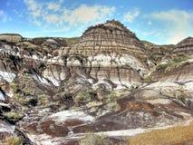 Неплодородные почвы Drumheller Стоковое Изображение