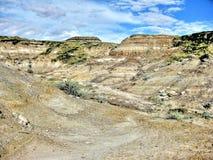 Неплодородные почвы Drumheller Стоковая Фотография RF