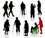 неработающее старые люди Стоковое Изображение