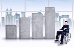 Неработающий бизнесмен с диаграммой дела Стоковые Фотографии RF