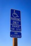 Неработающий парковать только стоковое изображение