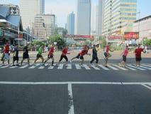 Нерабочий день Джакарта автомобиля стоковое фото
