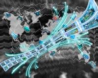 Неразрывное течение информации Стоковое Изображение RF
