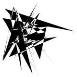 Нервная грубая пересекая monochrome форма изолированная на белизне Abst иллюстрация вектора
