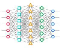 Нервная сеть Сеть нейрона иллюстрация штока