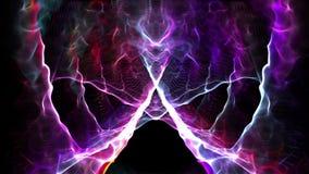 Нервная система безшовной абстрактной анимации электрическая нейро в человеческом мозге при красочное светлое искрясь используемо бесплатная иллюстрация