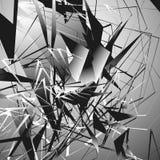 Нервная monochrome иллюстрация с геометрическими формами Абстрактное geo Стоковая Фотография RF