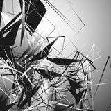 Нервная monochrome иллюстрация с геометрическими формами Абстрактное geo Стоковые Фото