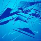 Нервная monochrome иллюстрация с геометрическими формами Абстрактное geo Стоковое Изображение