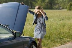 Нервное расстройство автомобиля стоковое фото rf