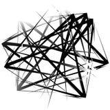 Нервные, остроконечные случайные перекрывая формы абстрактное искусство иллюстрация штока