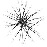 Нервные, остроконечные случайные перекрывая формы абстрактное искусство бесплатная иллюстрация