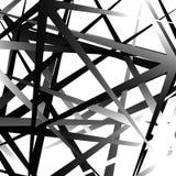 Нервные, остроконечные случайные перекрывая формы абстрактное искусство Стоковое фото RF