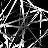 Нервные, остроконечные случайные перекрывая формы абстрактное искусство Стоковое Изображение