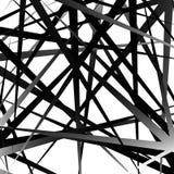 Нервные, остроконечные случайные перекрывая формы абстрактное искусство Стоковые Изображения