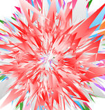 Нервные радиальные геометрические элементы абстрактная цветастая иллюстрация иллюстрация вектора