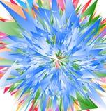 Нервные радиальные геометрические элементы абстрактная цветастая иллюстрация иллюстрация штока