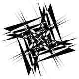 Нервный геометрический элемент, случайная форма Абстрактное monochrome illust Стоковые Изображения RF