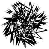 Нервный геометрический элемент, случайная форма Абстрактное monochrome illust Стоковое фото RF