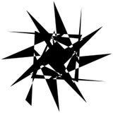 Нервный геометрический элемент, случайная форма Абстрактное monochrome illust Стоковое Изображение RF
