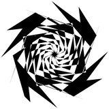 Нервный геометрический элемент, случайная форма Абстрактное monochrome illust Стоковые Фото