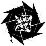 Нервный геометрический элемент, случайная форма Абстрактное monochrome illust Стоковое Фото