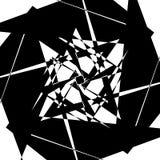 Нервный геометрический элемент, случайная форма Абстрактное monochrome illust Стоковое Изображение