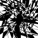 Нервный геометрический элемент, случайная форма Абстрактное monochrome illust Стоковая Фотография RF