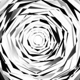 Нервный спирально текстурируйте Абстрактная monochrome, геометрическая картина иллюстрация штока