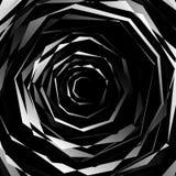 Нервный спирально текстурируйте Абстрактная monochrome, геометрическая картина Стоковая Фотография