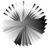 Нервный, угловой геометрический элемент Абстрактная круглая форма на whit Стоковое Изображение