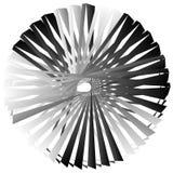 Нервный, угловой геометрический элемент Абстрактная круглая форма на whit Стоковые Фотографии RF