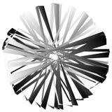 Нервный, угловой геометрический элемент Абстрактная круглая форма на whit Стоковая Фотография