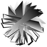 Нервный, угловой геометрический элемент Абстрактная круглая форма на whit Стоковые Изображения
