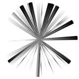 Нервный, угловой геометрический элемент Абстрактная круглая форма на whit Стоковое фото RF