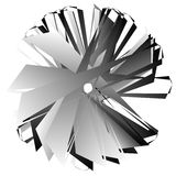 Нервный, угловой геометрический элемент Абстрактная круглая форма на whit Стоковое Изображение RF